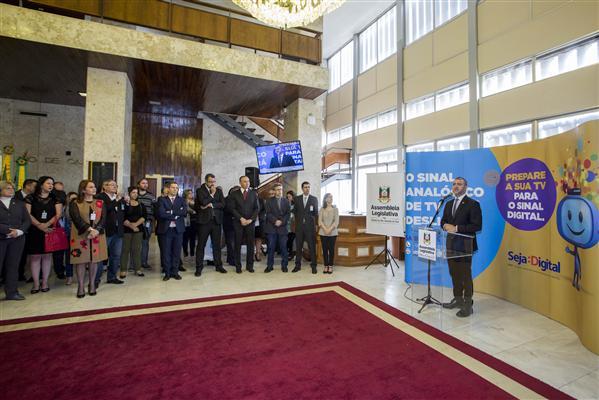 Presidente Edegar Pretto participa do lançamento da campanha Seja Digital no RS