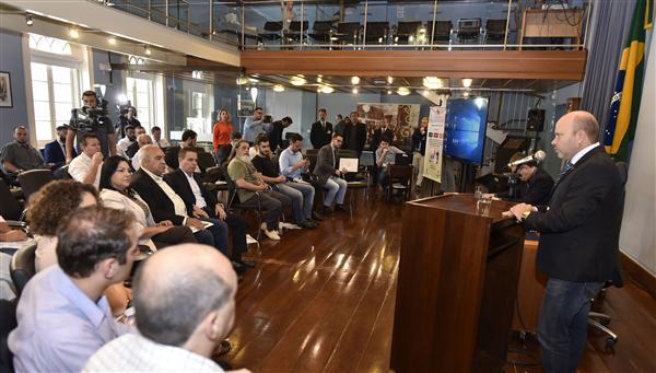 Presidente Marlon Santos fez a abertura do encontro