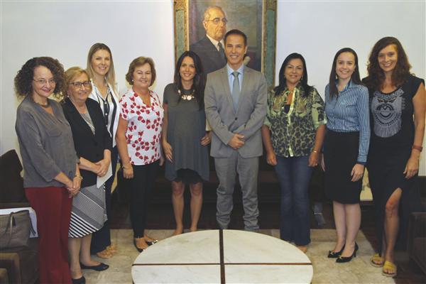 Presidente recebeu as deputadas que integram a nova Legislatura