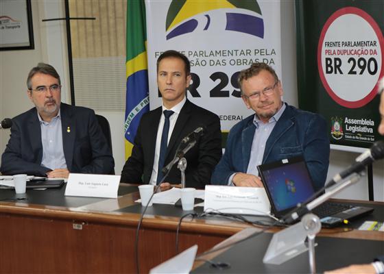 Presidente da ALRS Dep. Luis Augusto Lara Reunião frente Parlamentar BR 290