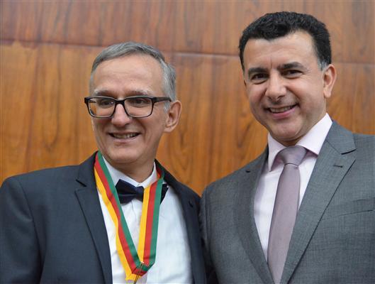 Jornalista recebeu Medalha e foi homenageado por Jeferson Fernandes no Grande Expediente