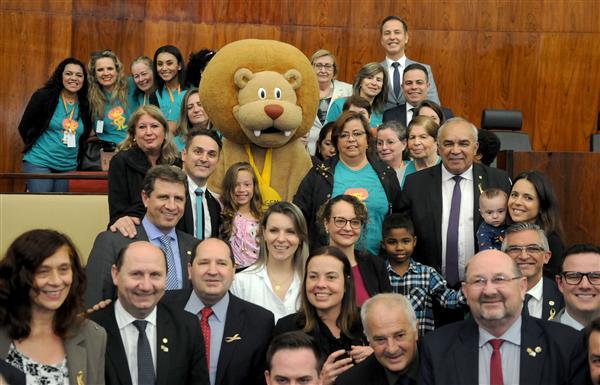 Integrantes do Instituto do Câncer Infantil acompanharam votações em plenário