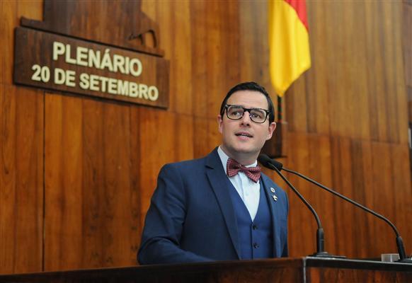 Deputado Mateus Wesp abriu os pronunciamentos na tribuna