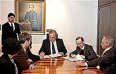 Westphalen e Miola firmaram parceria entre dois setores das instituições