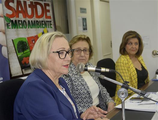 Secretária Arita Bergmann e diretora-geral Aglaé Regina da Silva apresentaram resultados da SES