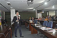 Júlio Abrantes, mestre em Administração  e especialista em Estratégia Empresarial foi o palestrante