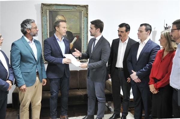 Governador e secretários foram recebidos pelo presidente da AL